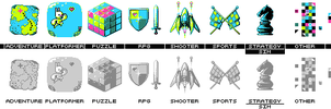 Game Jolt Game Category Icons by knitetgantt