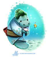 Daily Paint #1255. Manatea Time by Cryptid-Creations