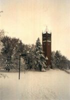 ISU Campanile in winter by kybrdgal