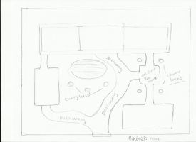 Miwako House outline (Blue Prints) by WolfLover887
