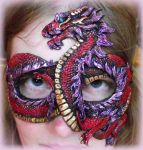 Red Chinese Dragon Mask by Namingway