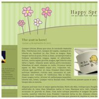 Spring Blogger Template by arwenita