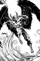 Hawkman inks by BDStevens