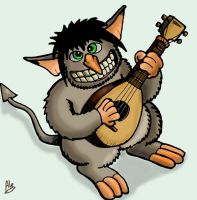 Cute Troll Playing Lute by SnipperWorm