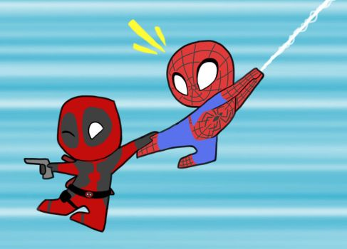 Spideypool by SolrSurfr3
