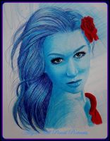 OLIVIA .... biro pen challenge by AngelasPortraits