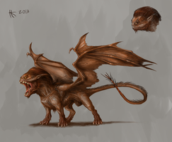 Manticore by Thylacinee