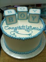 Buttercream Baby Shower Cake by Spudnuts