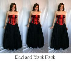 Red and Black Pack 1 by LongStock