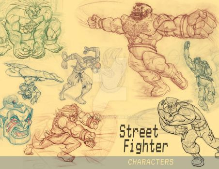 Street Fighter SketchBook Page by Stnk13