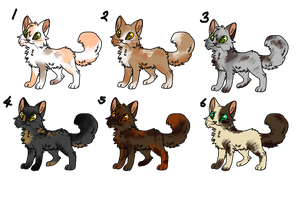 Natural Tortie Adopts [2/6 OPEN] by PurryProductions-Inc
