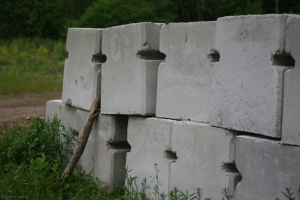 Cement Blocks In The Woods by JBail