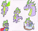 Spike The Dragon by SkywalkerGirl666
