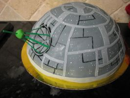 Death Star Carrot Cake - Side View by EmeraldMoon519