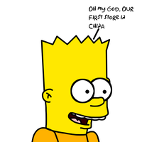 Bart's reaction to first Simpsons Store in China by ElMarcosLuckydel96