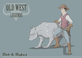 Old West. Bob and Rufus by JoseManuelSerrano