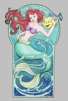 Ariel and Flounder by ShannonValentine