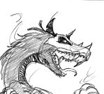 Shadow dragon Icon draft by Winged-Dragoness
