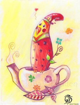 Tea time Nymphicus by Gloria-T-Dauden