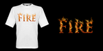 Fire T-shirt design by K4tEe