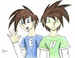 Twin Brothers, Ethan and Nathan by RexyGal