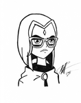 Hipster Raven by MattColvin