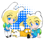 ~Finn and Jake w/ Fionna and Cake~ by Neko-Hibi