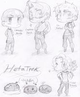 HetaTrek: The Main Trio by spock-sickle