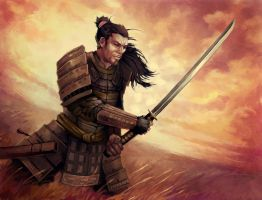 Lion Clan Samurai by auspiciouspanda