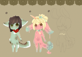 Random Anthro Adopts .:Closed:. by Pieology