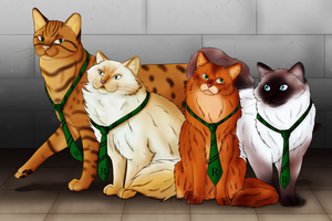 Beauxbatons Cats by CCDragon-93