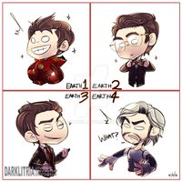 TheFlash: Earth1-2-3 and 4 Barrys by DarkLitria