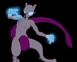Mewtwo by WolfenEclipse