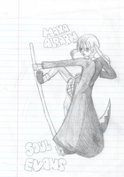 School Sketches: Maka and Soul by Hagaluz