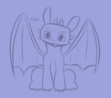 Toothless sketch by ecmc1093