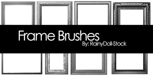 Frame Brushes by RainyDoll-Stock