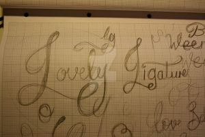 Typeface Sketches 8 by Weegraphicsman