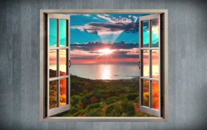 Look at the window - Abstract Wallpaper by Angela-White