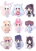 Chibi Adopt Set #1 [open] SET PRICE by Yoai