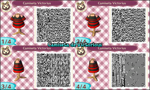 QR Code ACNL: Camiseta de Victorius by One-Eco