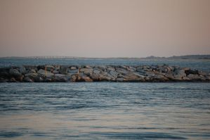 landscape: rocky pier by illusionistsmemories