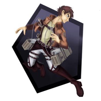 Eren Jaeger Colored by RubiaDuarte