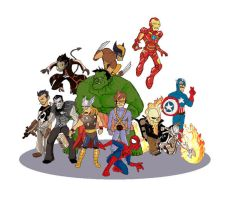 marvel characters by Blajod
