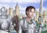 Joan of Arc and Knight by dashinvaine