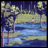 Gentle Stream - Game Concept Sketch by AnthonyPismarov