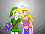 Link and Zelda by CupNoodlesFreak