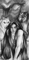 Isis and the Pack by Goldenwolf