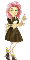 Fluttershy - Maid Outfit by popokoli