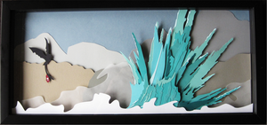 Toothless Paper Cut Shadowbox by munchforlunch