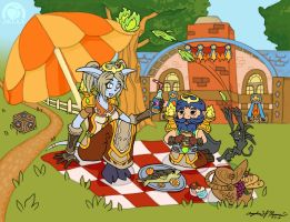 A Fiery Goldshire Picnic by Peach-Jelly